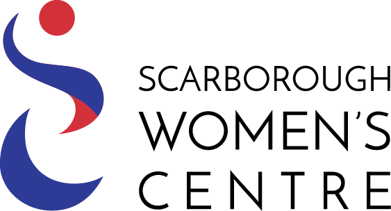 Image of Scarborough Women's Centre logo in blue and red
