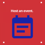 Calendar image that leads to event hosting page.