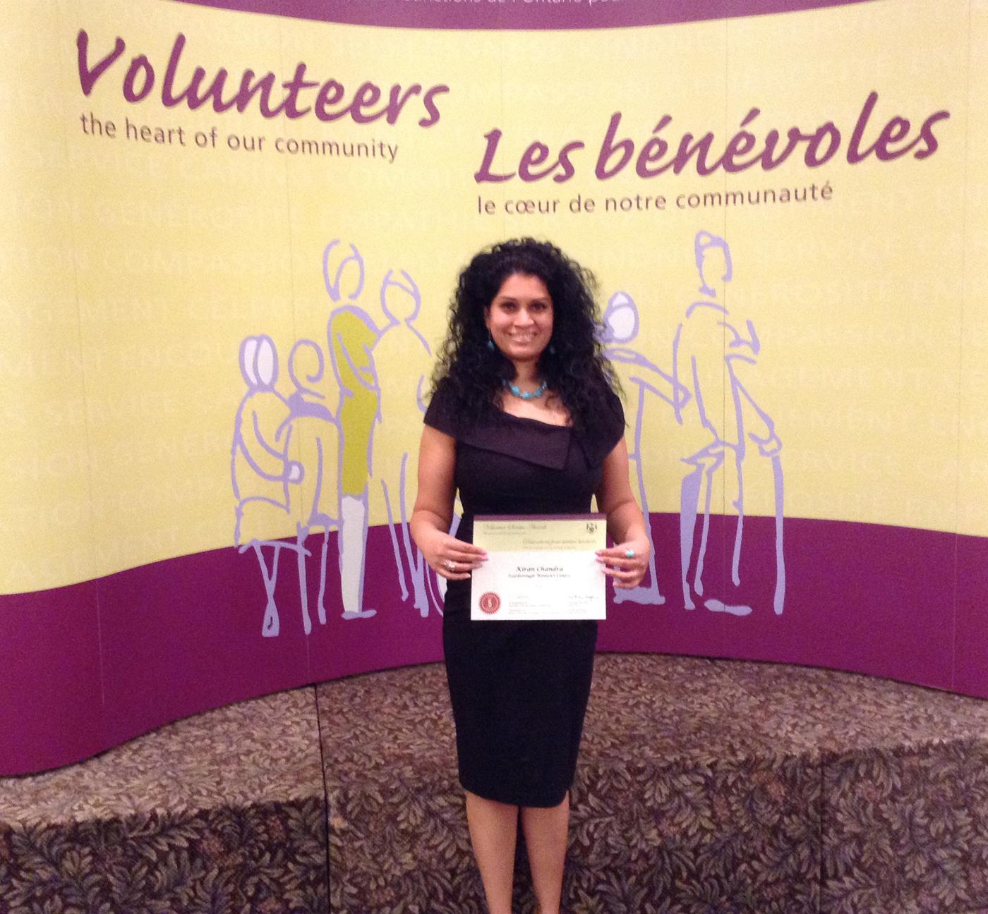 South Asian woman volunteer